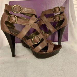 Fergie-Bridal Brown Pepper Sandals-Size: US 9.5
